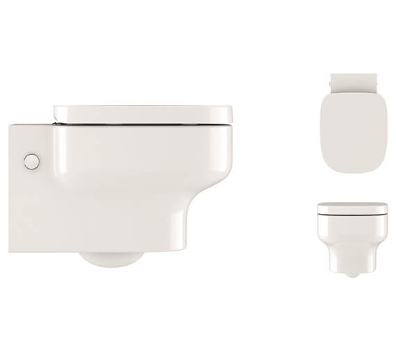 Crosswater Kai S Wall Hung Toilet With Soft Close Seat