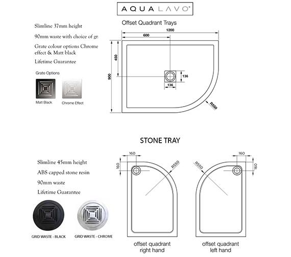Additional image of Aquadart Venturi 8 Double Door 1900mm High Offset Shower Quadrant