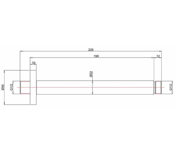 Technical drawing QS-V72576 / PRO689C