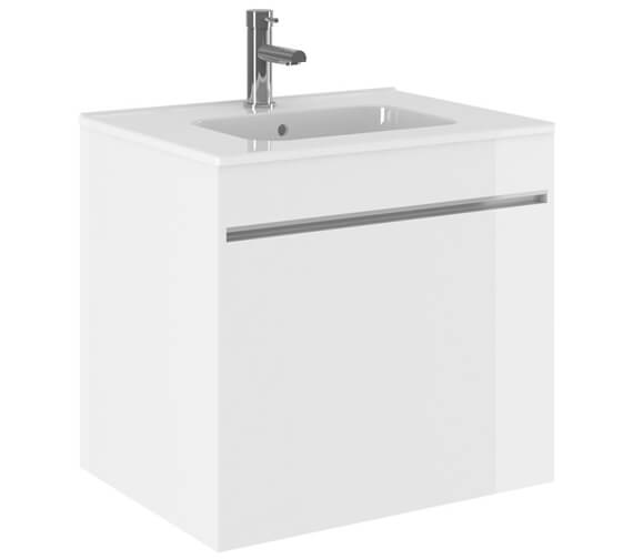 Crosswater Kai Single Drawer Unit With Basin With Overflow