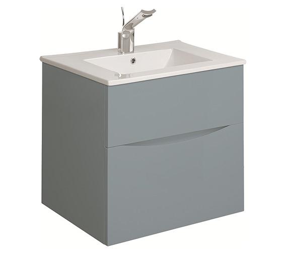 Alternate image of Bauhaus Glide II 500mm Double Drawer Vanity Unit - GL5000DDW+