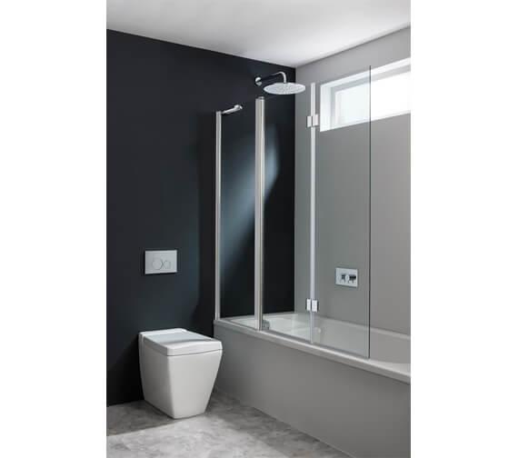 Crosswater Design Plus 1500mm Triple Bath Screen