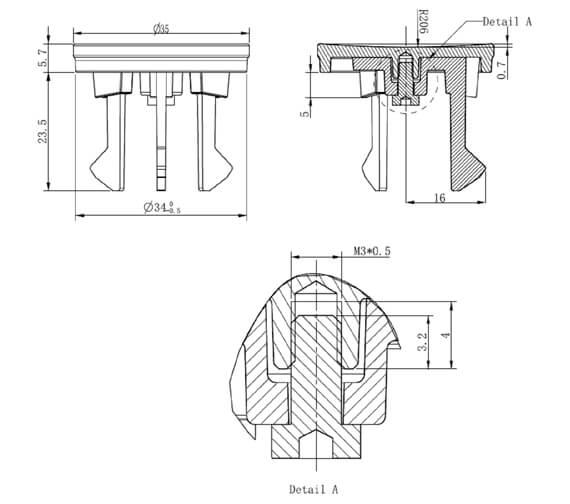 Technical drawing QS-V95685 / MPROOVC