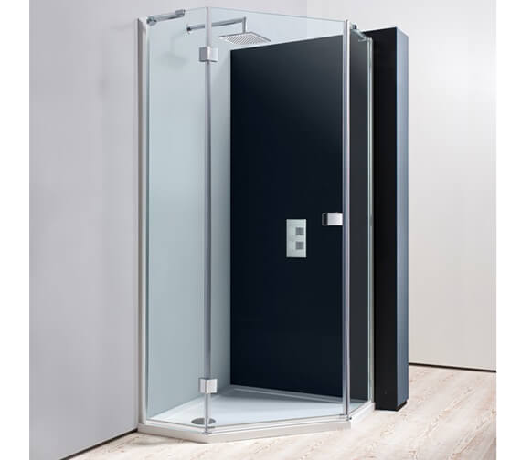 Crosswater Design Semi Frame-less Pentagon Shower Enclosure 900mm