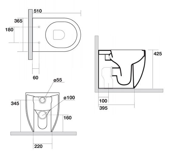 Technical drawing QS-V99081 / GL6117CW