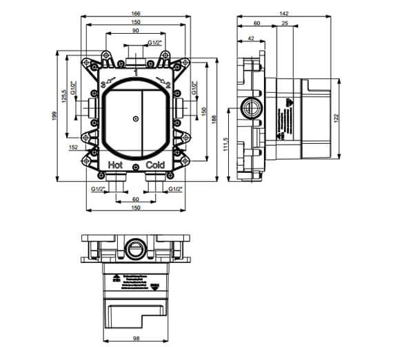 Technical drawing QS-V95690 / PROCB1500LBPC