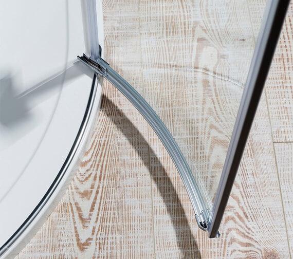 Additional image of Crosswater Design Plus Quadrant Double 800mm Hinged Door Enclosure