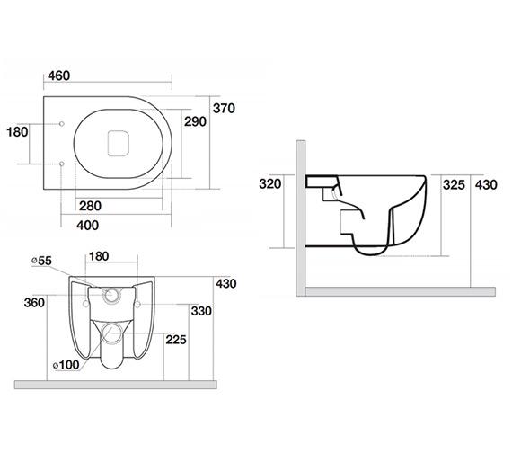 Technical drawing QS-V99082 / GL6115CW
