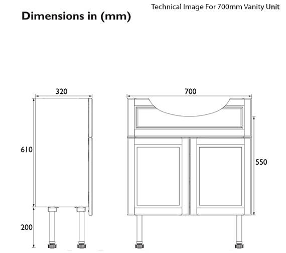 Technical drawing QS-V89437 / FFDGRVAN600