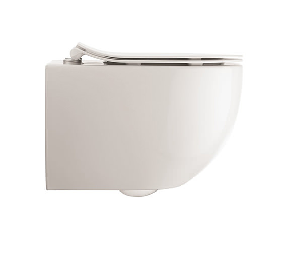 Crosswater Glide II White Wall Hung Rimless WC And Soft Close Seat