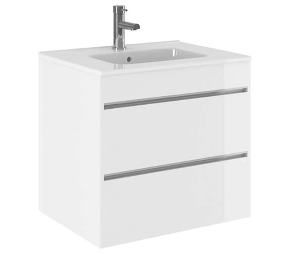 Crosswater Kai Double Drawer Wall Hung Unit With Basin