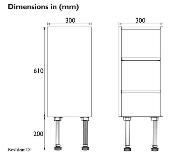 Technical drawing QS-V100615 / FFDGROBU300