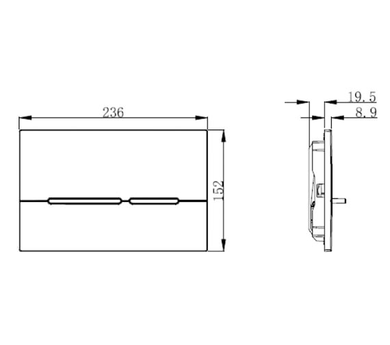 Technical drawing QS-V99084 / GLFLUSHB
