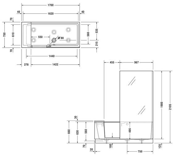 Technical drawing QS-V87555 / 700403000000000