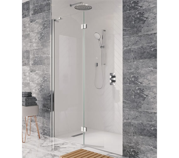 Crosswater Design View Walk In Easy Access Shower Enclosure 1400mm