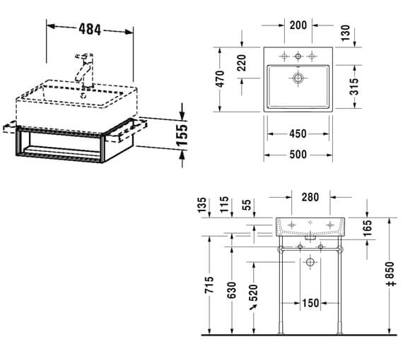 Technical drawing QS-V33295 / VA602401818