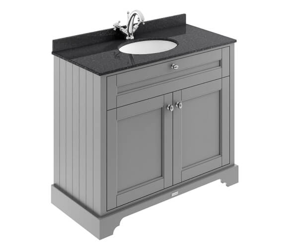Old London 1000mm Double Door Unit And Ceramic Basin With Marble Top