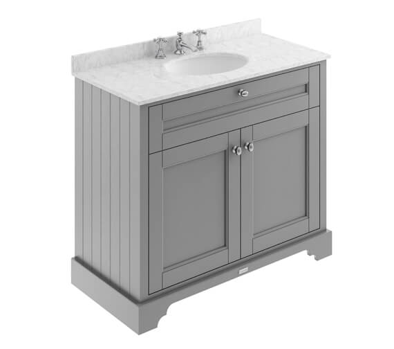 Alternate image of Old London 1000mm Double Door Unit And Ceramic Basin With Marble Top