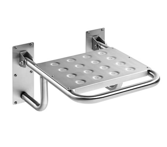 Roca Access Heavy-Duty Seat Folding in Stainless Steel