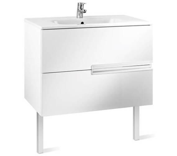 Roca Victoria Basic 2 Drawers Large Vanity Unit Gloss White Finish - 600 x 460mm