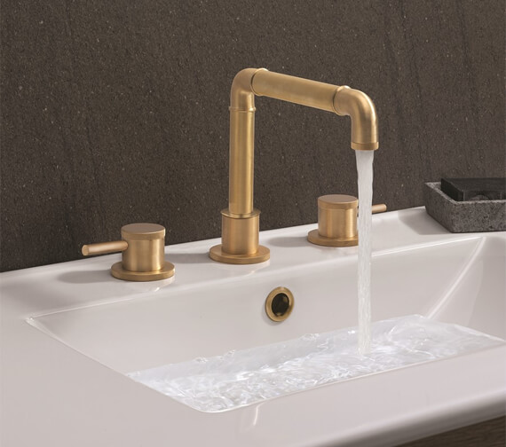Alternate image of Crosswater MPRO Industrial Deck Mounted 3 Hole Basin Tap