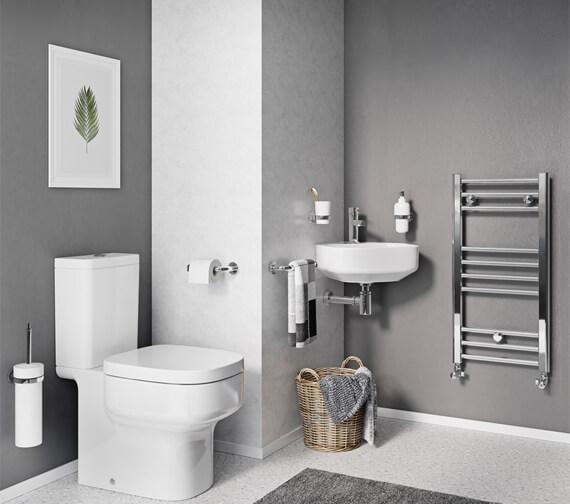 Alternate image of Crosswater Kai 500mm Wide Straight Towel Warmer