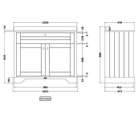 Technical drawing QS-V98035 / LOF276