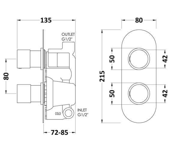 Technical drawing QS-V93787 / RNDTW01