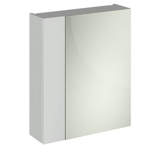 Alternate image of Hudson Reed Fusion 600mm Double Door 75-25 Compact Mirror Cabinet