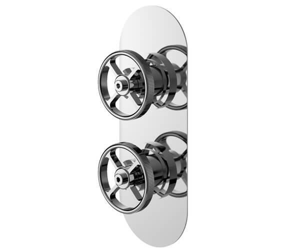 Hudson Reed Revolution Industrial Twin Shower Valve Chrome