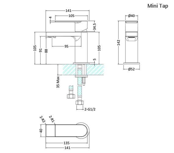 Technical drawing QS-V90913 / SOT345