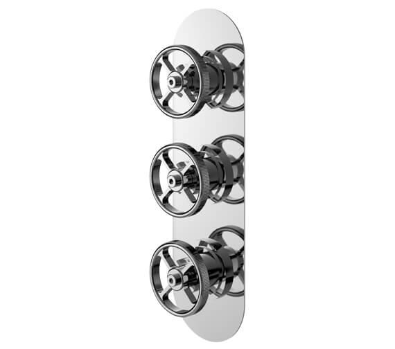 Hudson Reed Revolution Industrial Triple Shower Valve Chrome