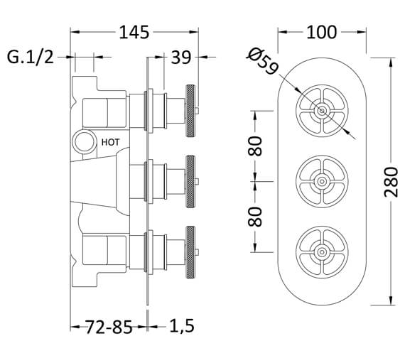 Technical drawing QS-V93792 / SIWTR02