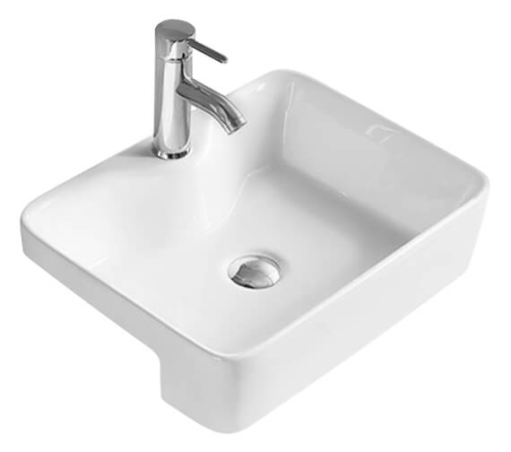 Hudson Reed Vessel 480 x 370mm Rectangular Semi-Recessed Basin