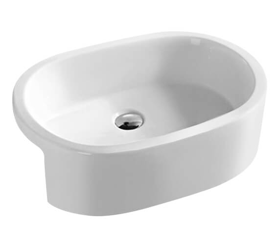 Hudson Reed Vessel 560 x 400mm Semi-Recessed Oval Basin