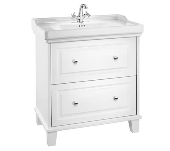 Roca Carmen Unik Traditional Style Base Vanity Unit 800mm With Two Drawers And Basin