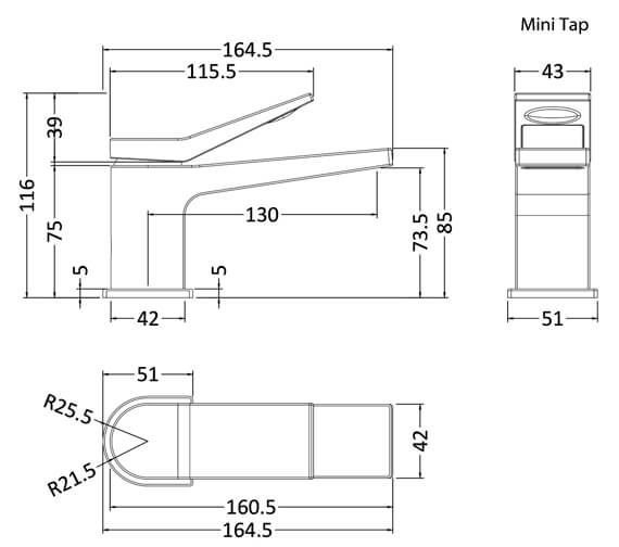 Technical drawing QS-V90914 / SOA345