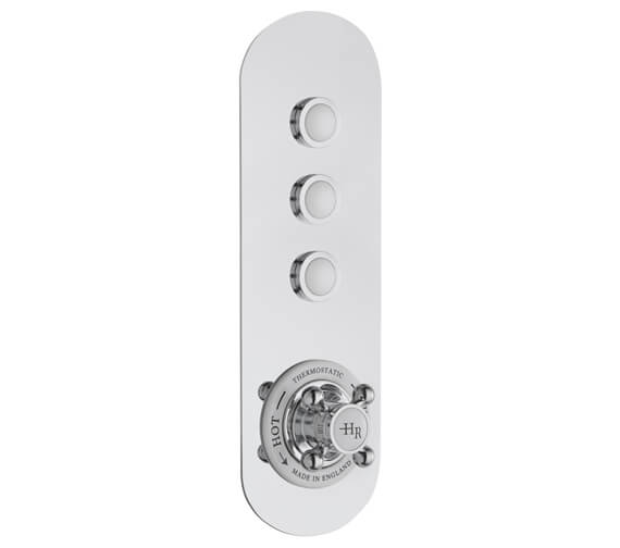 Alternate image of Hudson Reed Topaz Thermostatic Traditional Push Button Shower Valve