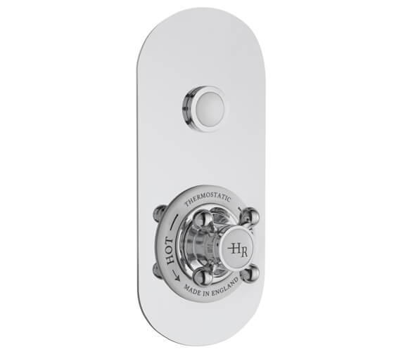 Hudson Reed Topaz Thermostatic Traditional Push Button Shower Valve