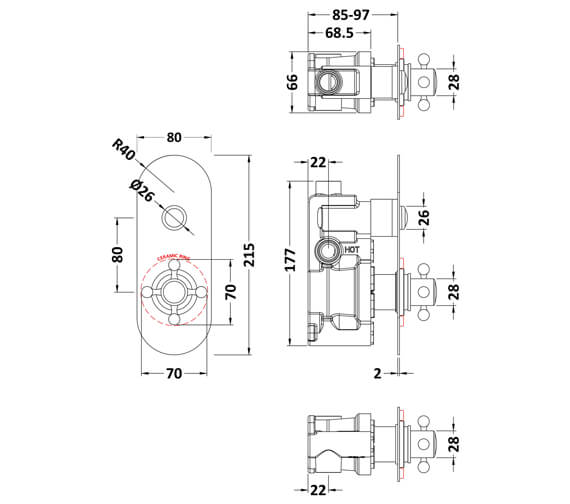 Technical drawing QS-V93794 / CPB5310