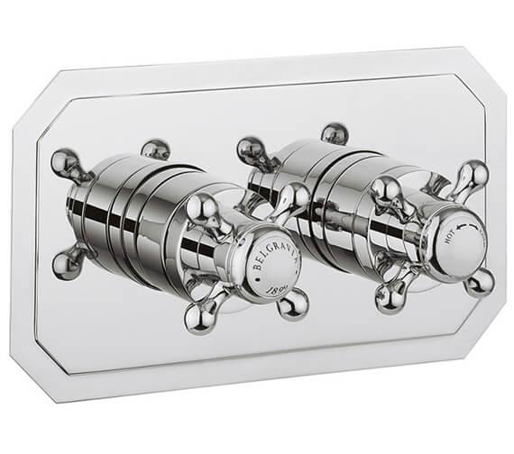 Crosswater Belgravia Crosshead Thermostatic Shower Valve with 2 Way Diverter