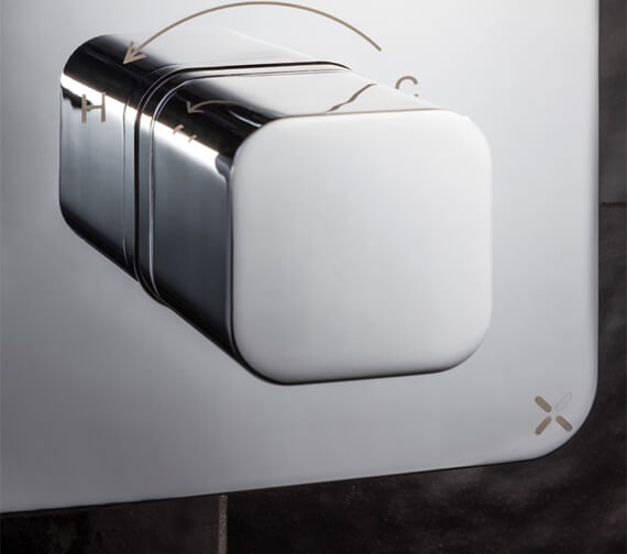 Additional image of Crosswater Atoll Wall Mounted Crossbox Thermostatic Valve