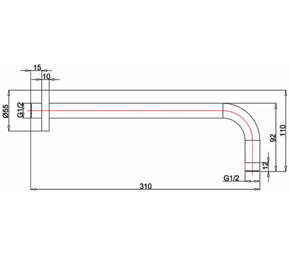 Technical drawing QS-V95701 / PRO684M