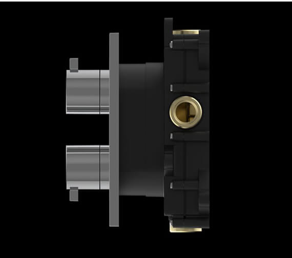 Alternate image of Crosswater Atoll Wall Mounted Crossbox Thermostatic Valve