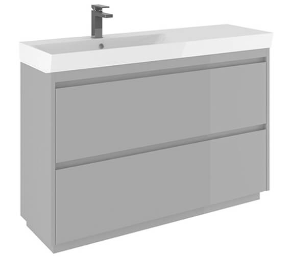 Crosswater Zion 1200mm Wide Floor Standing Unit With One Taphole Basin