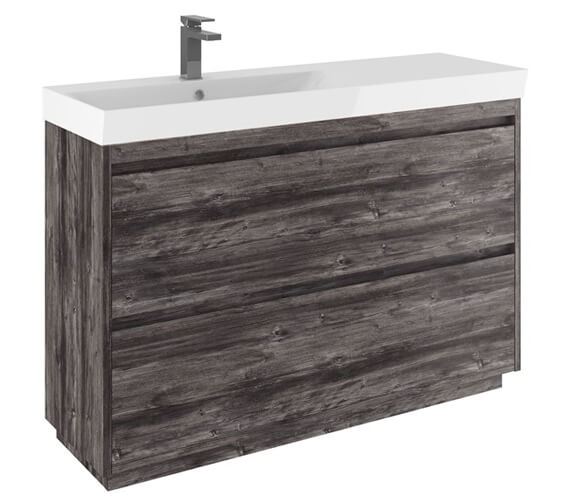 Additional image of Crosswater Zion 1200mm Wide Floor Standing Unit With One Taphole Basin