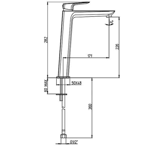 Technical drawing QS-V88641 / NO114DNC