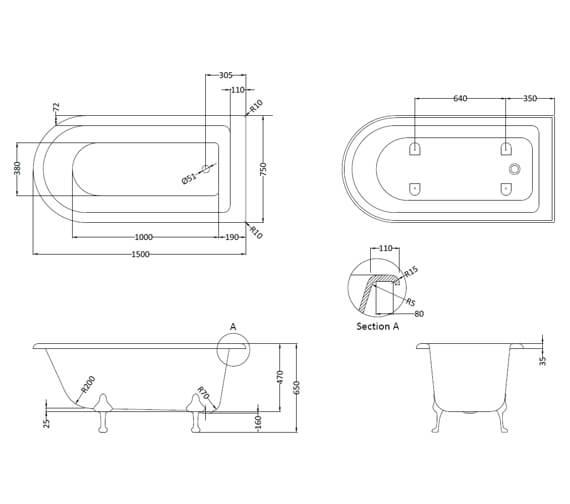 Technical drawing QS-V93799 / RLF1500C2