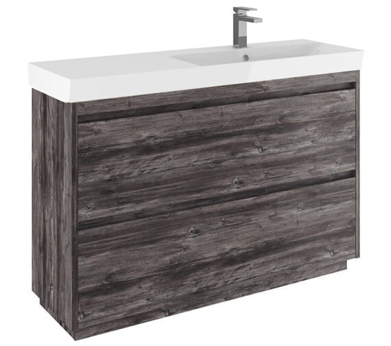 Alternate image of Crosswater Zion 1200mm Wide Floor Standing Unit With One Taphole Basin