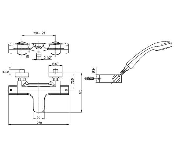 Technical drawing QS-V88651 / NO421TWC